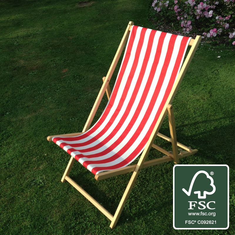 Red & White Striped Deckchair