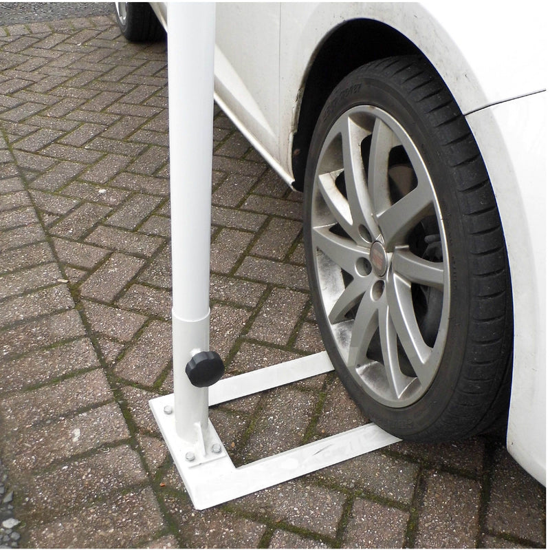 Car Forecourt Flagpole 4.95m with drive on base