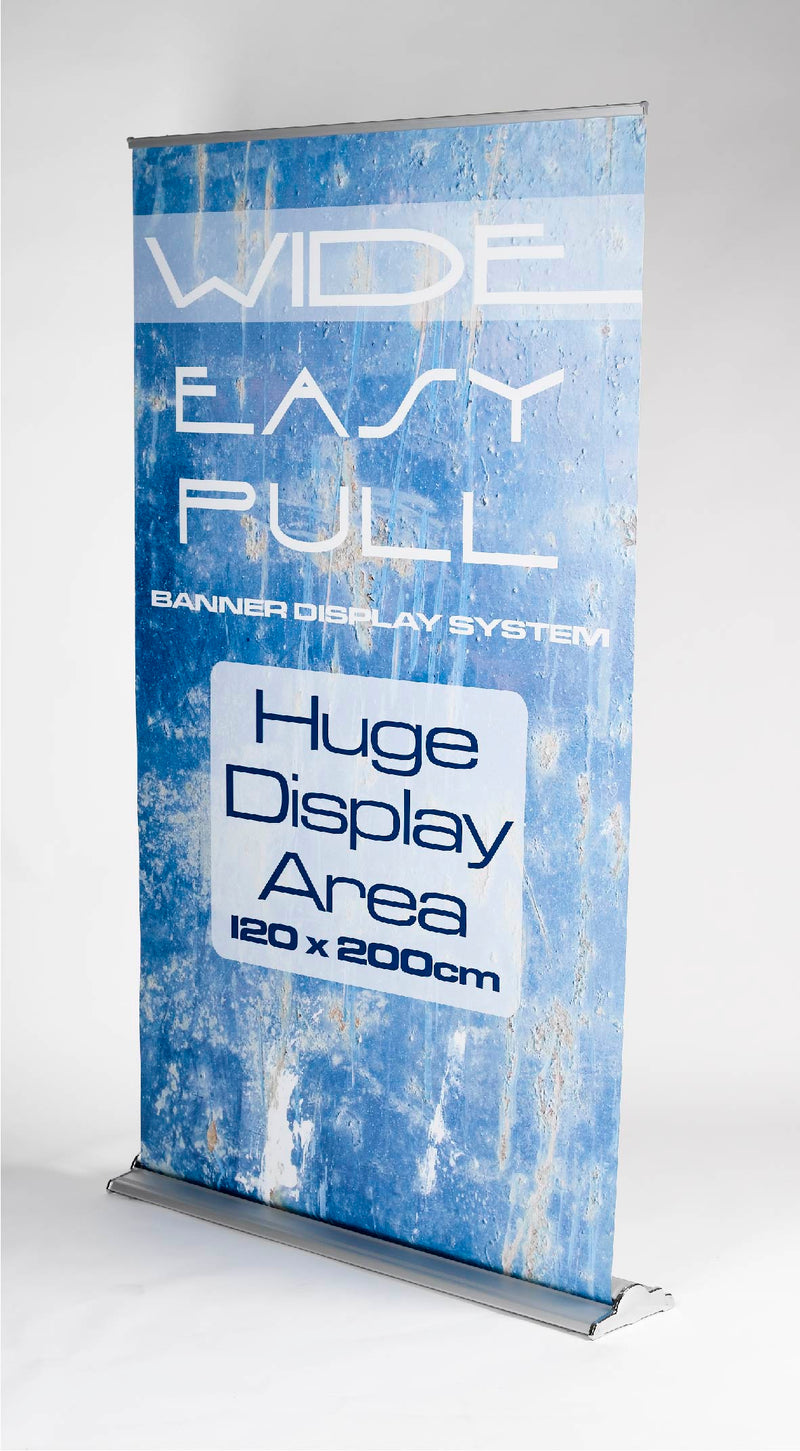 Extra wide pull up banner