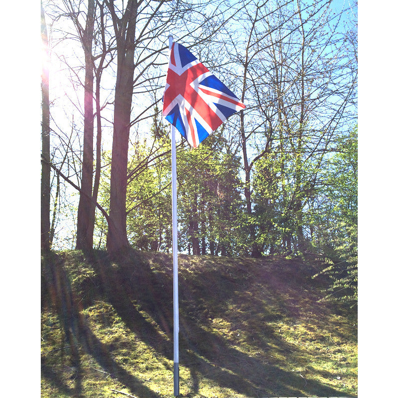 Value white Flagpole 4.8 metre, 4 section
