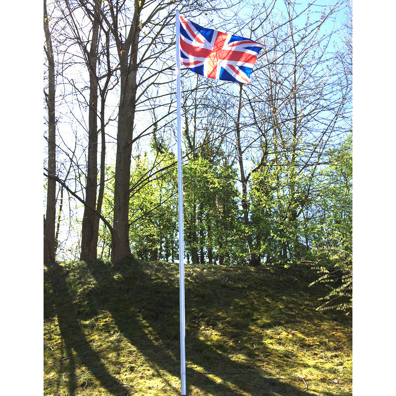 Value white Flagpole 6 metre, 5 section