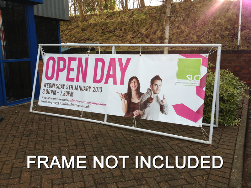 8m x 0.6m Full colour printed banner