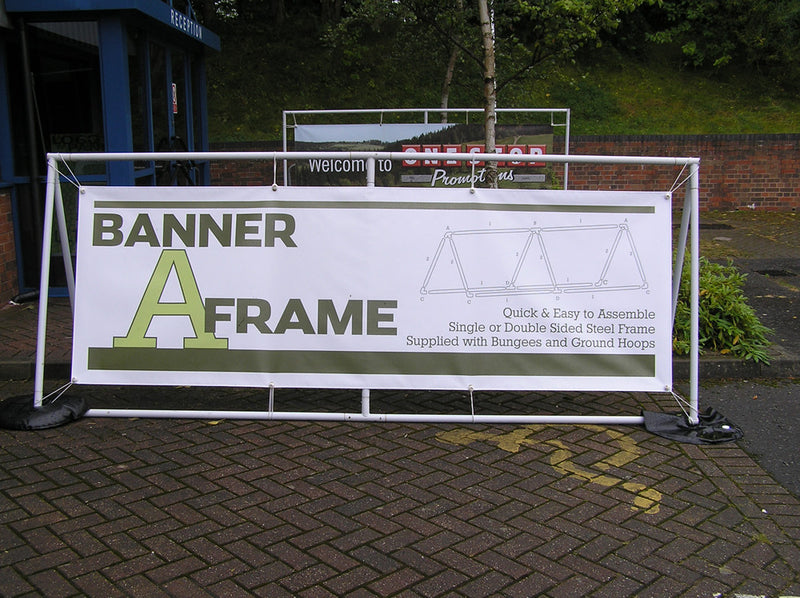 Steel Banner A Frame - With a Banner