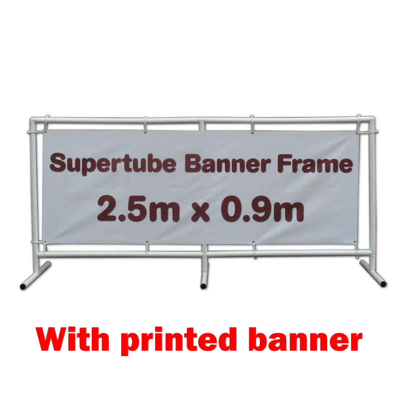 Supertube Banner Frame - 2.5m x 0.9m with Banner
