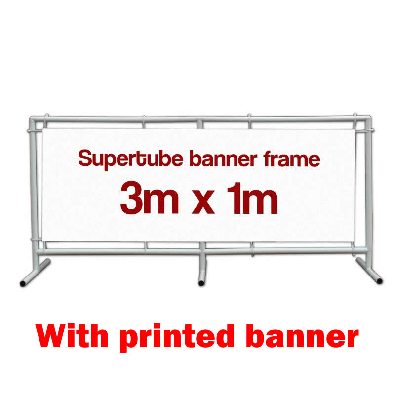 Supertube Banner Frame - 3m x 1m with banner