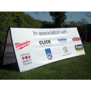 Horizontal Square ended pop out banner - 2m x 1m