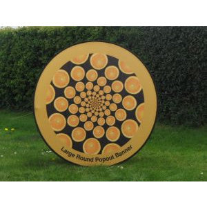 Round pop out banner - 1.4m diameter