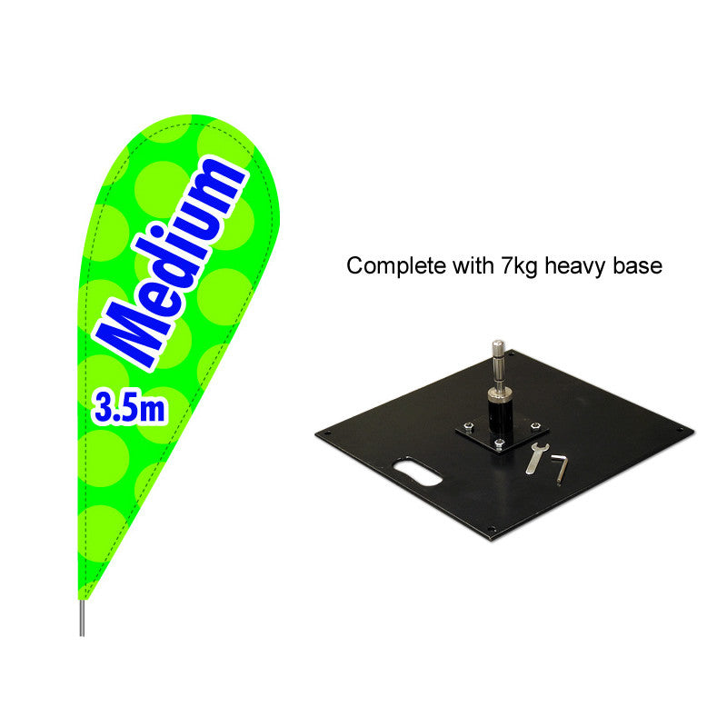Medium Teardrop Flag with 7kg base