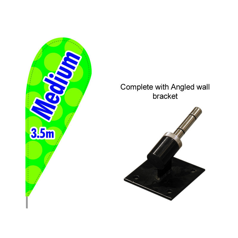 Medium Teardrop Flag with Angled bracket