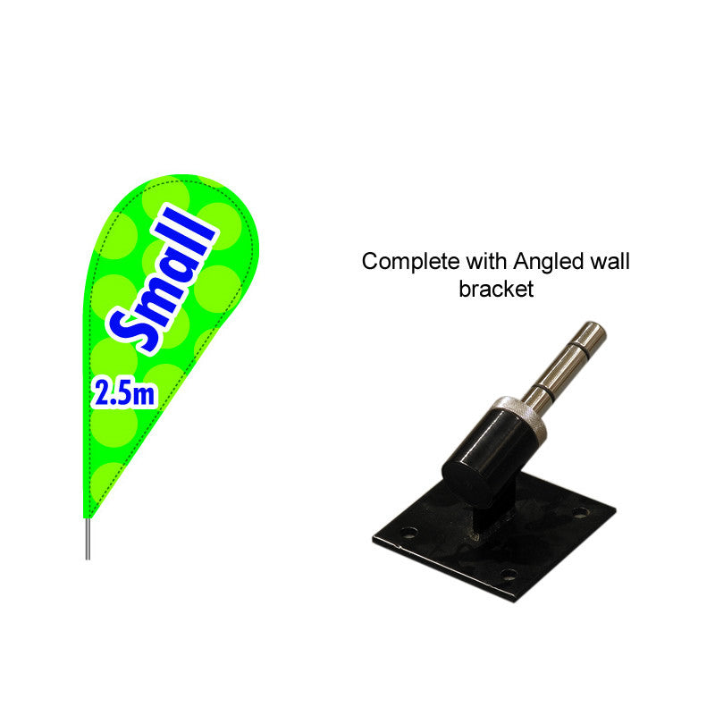 Small Teardrop Flag with Angled Bracket