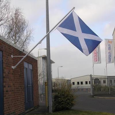 Value wall mounted Flagpoles with Angled brackets