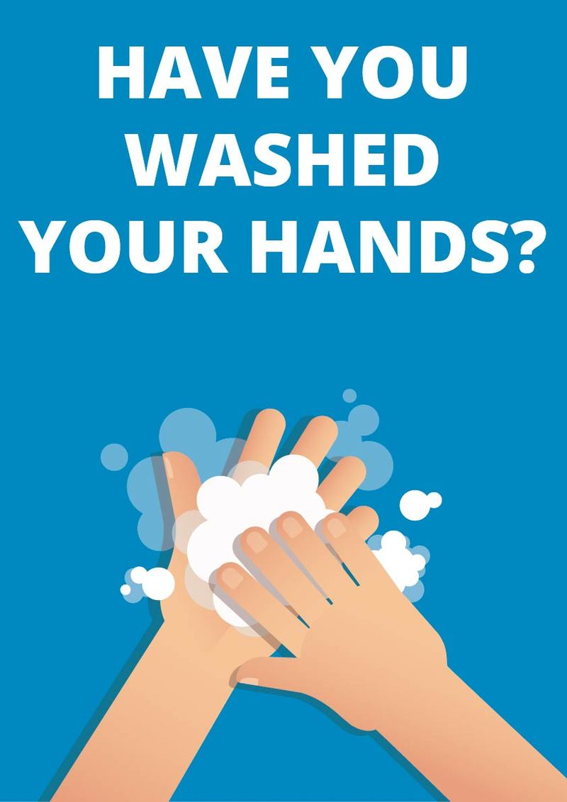 Wash your hands sign - A3