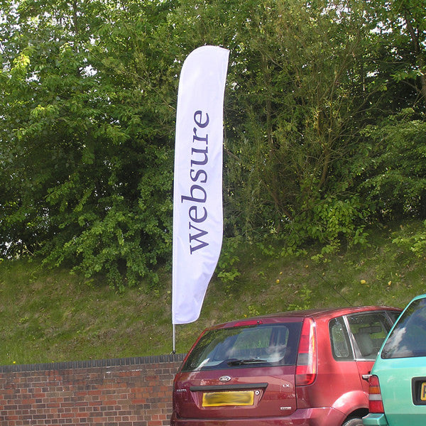 Large Feather Flag with drive on car base