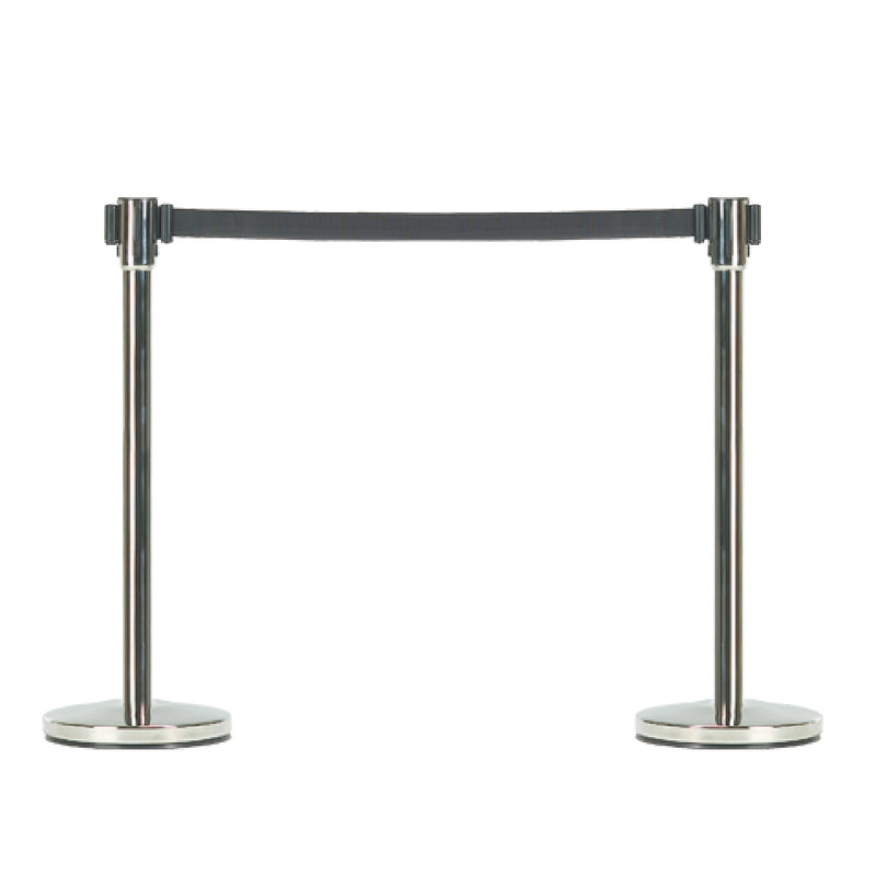 Retractable belt Queue barrier system
