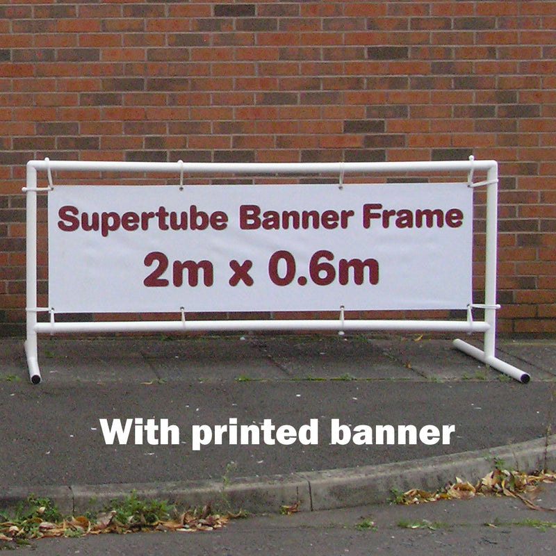 Supertube Banner Frame - 2m x 0.6m with Banner