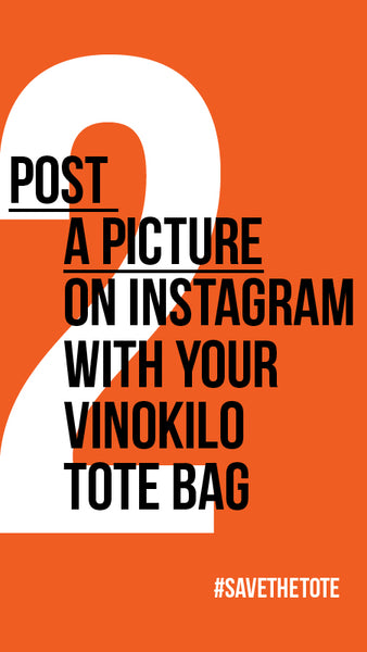 2: Post an Instagram Picture with your VinoKilo Tote Bag