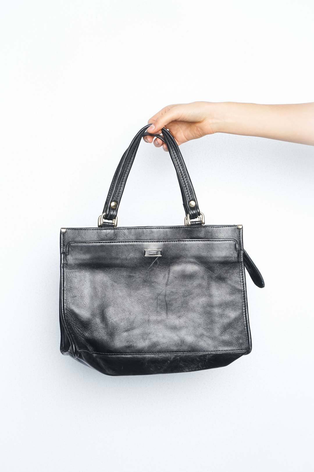 Black Leather Bag - VinoKilo.com