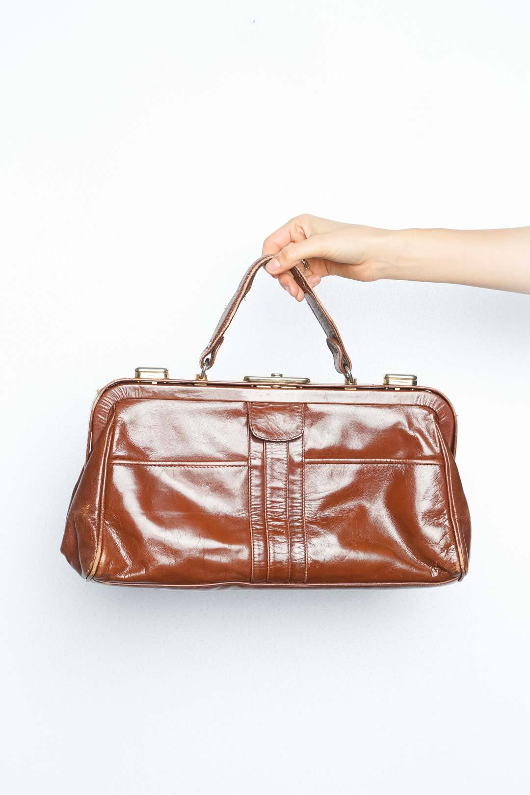 Brown Leather Bag - VinoKilo.com