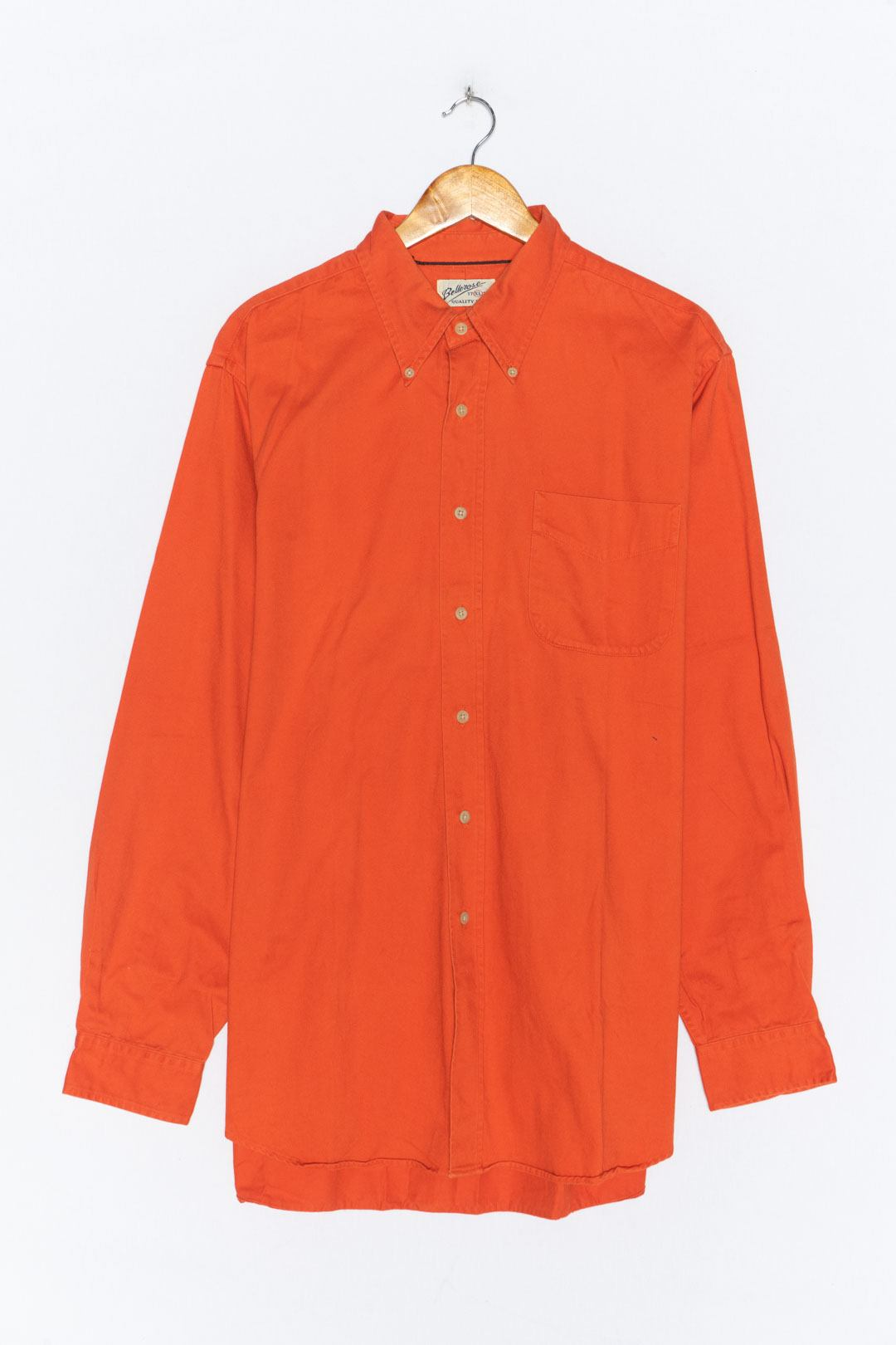 Orange Denim Shirt XL - VinoKilo.com
