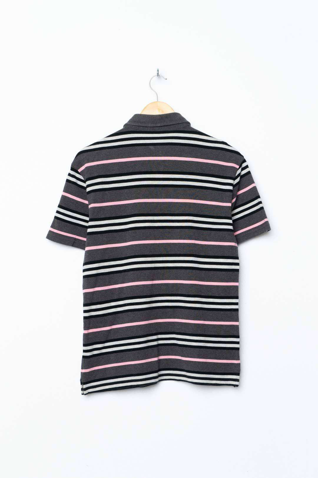 Grey Pink Burberry Polo Shirt XS - VinoKilo.com
