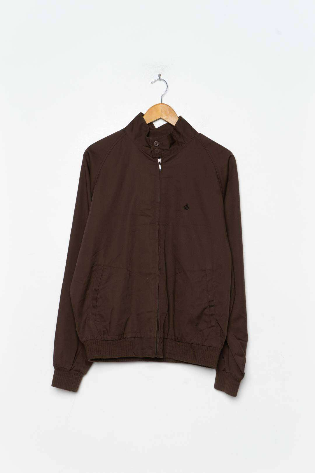 Brown Cotton Bomber Jacket S - VinoKilo.com