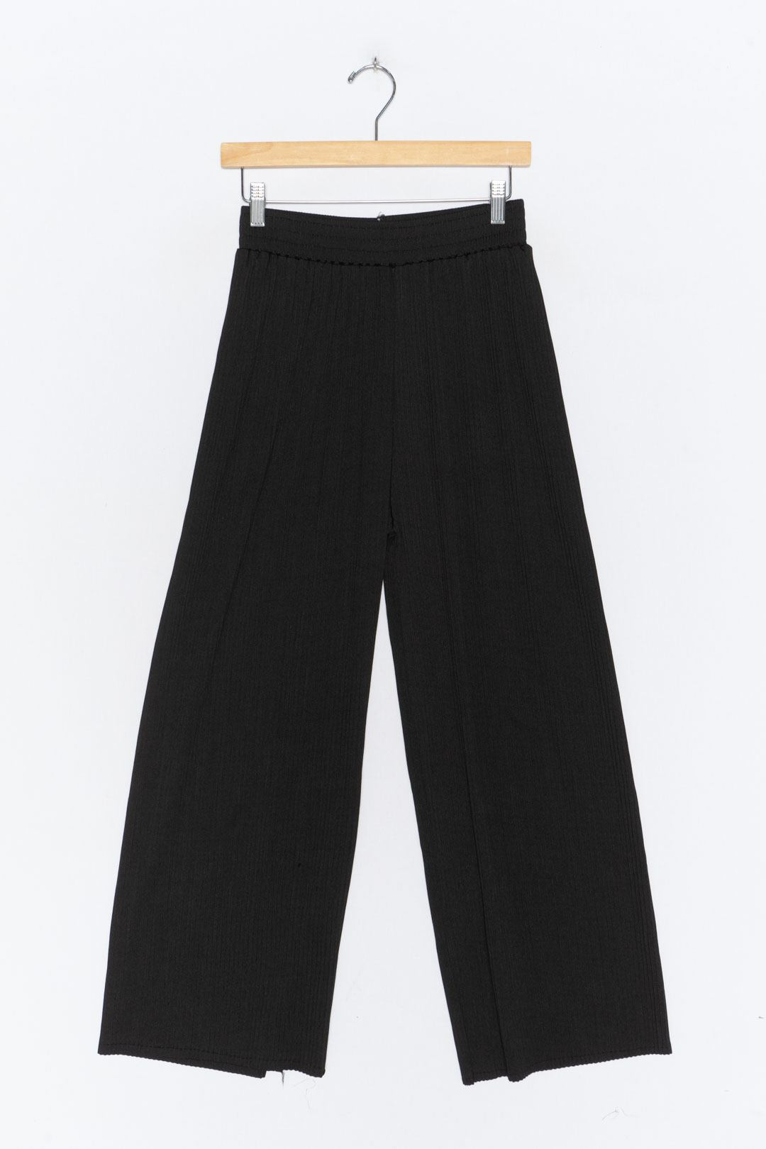 Black Pleated Culottes M - VinoKilo.com