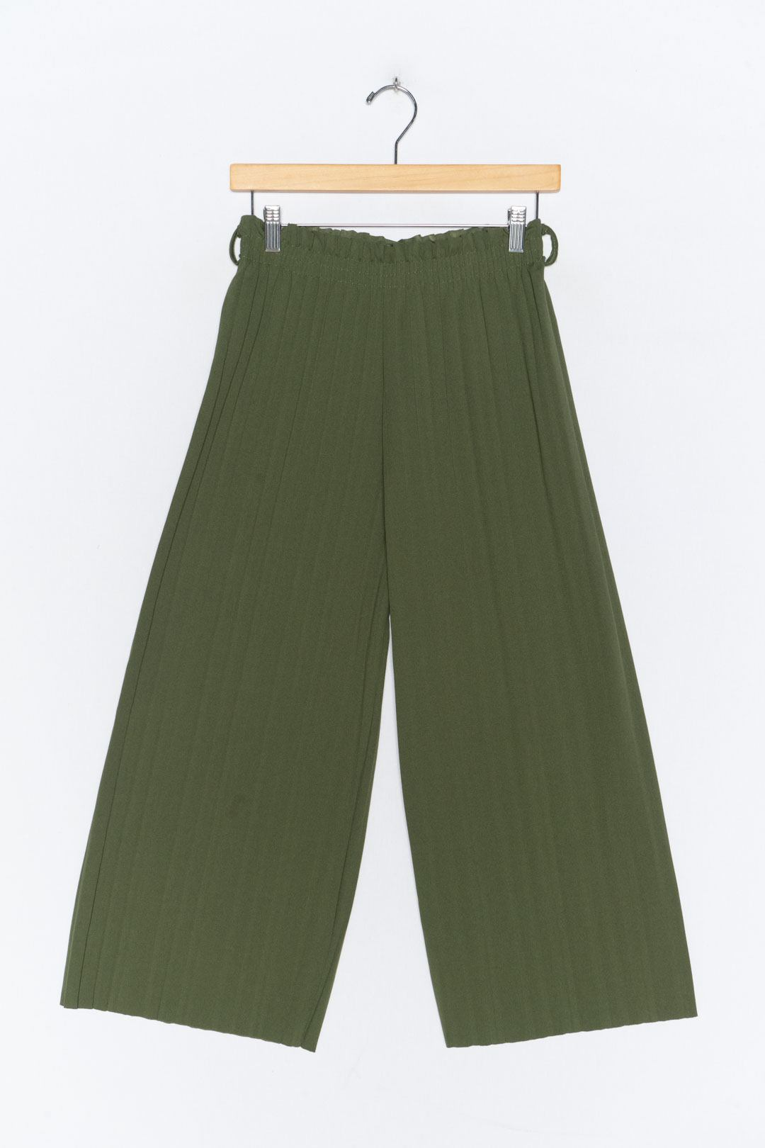 Green Pleated Culottes M - VinoKilo.com
