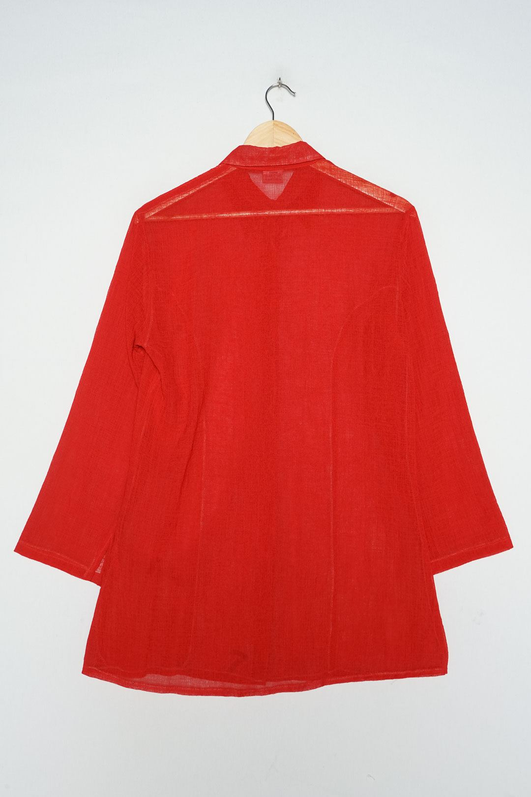 Vinokilo Red Satin Blouse M - VinoKilo.com