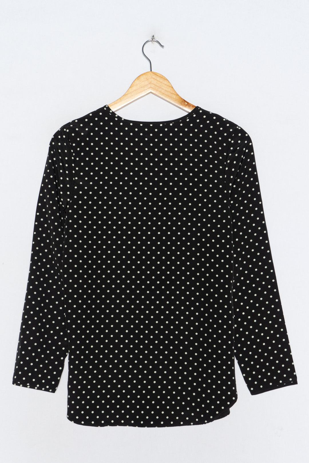 Black White Dotted Blouse S - VinoKilo.com