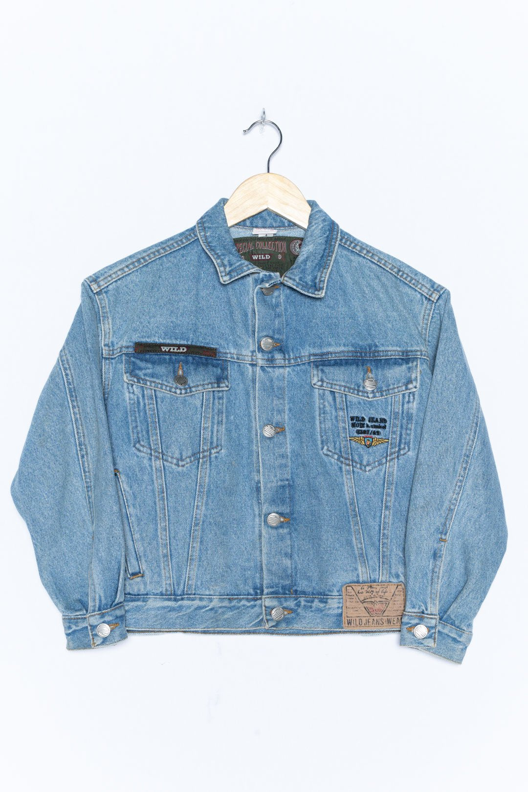 Blue Denim Jacket XS - VinoKilo.com