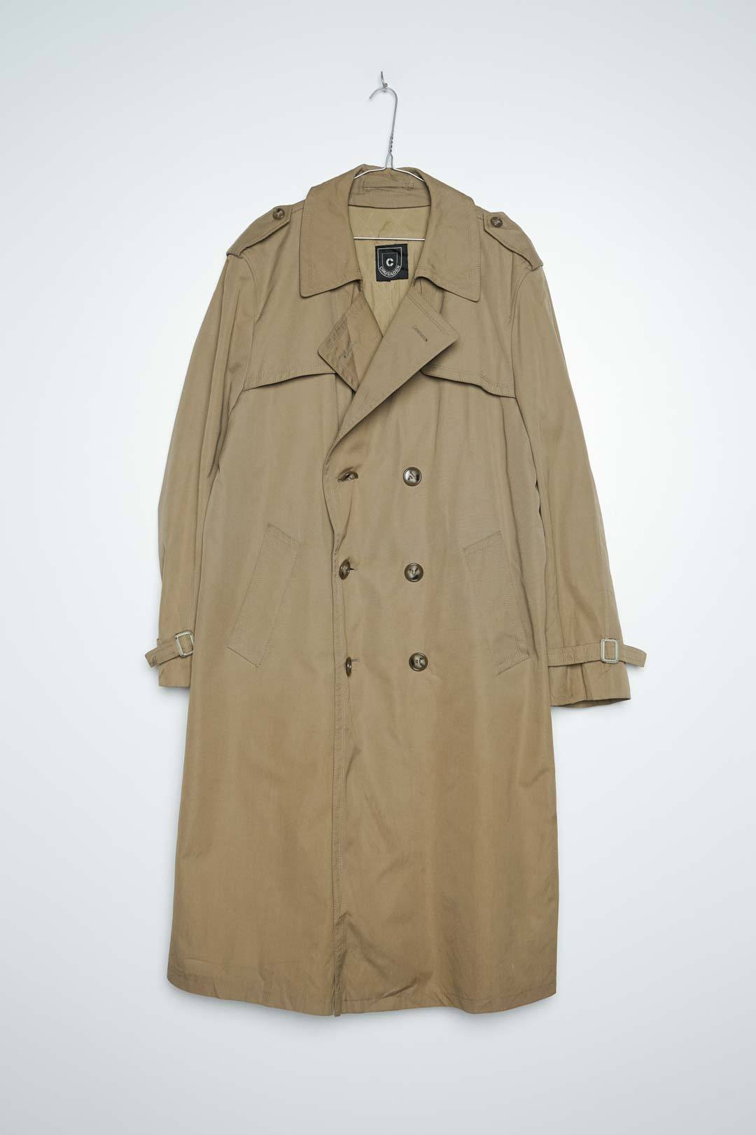 Beige Threnchcoat Broken Button L - VinoKilo.com