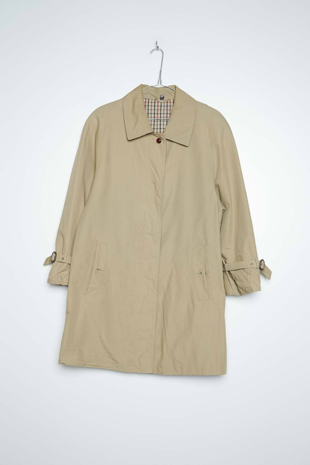 Beige Threnchcoat Pocket Button Broken S - VinoKilo.com