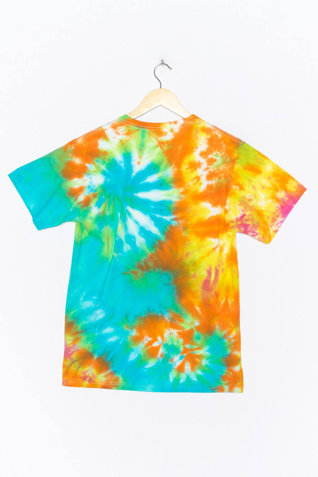 Orange Blue Tie Dye T-Shirt L - VinoKilo.com