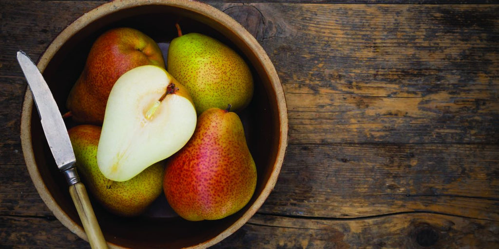 Sweet pickled pears