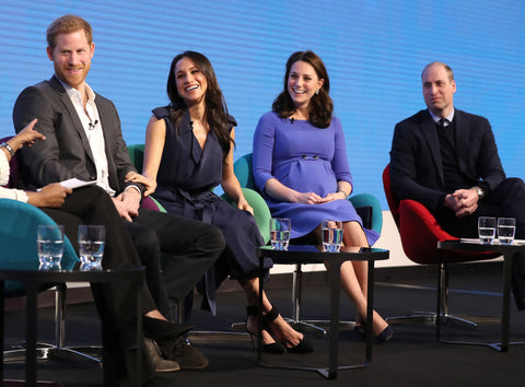 Prince Harry and Meghan Markle with the Duchess and Duke of Cambridge at the Royal Foundation Forum in central London (Chris Jackson/PA)