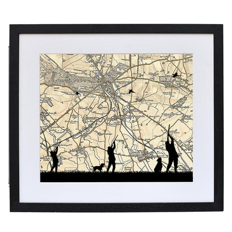 Personalised Vintage Map Shooting Print