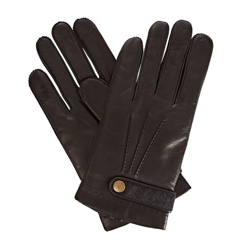 Alfie  Men's Leather Gloves in Black