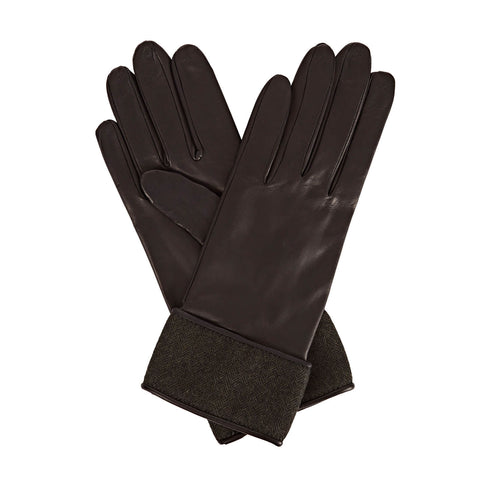 Beatrisa Women's Leather Gloves in Black