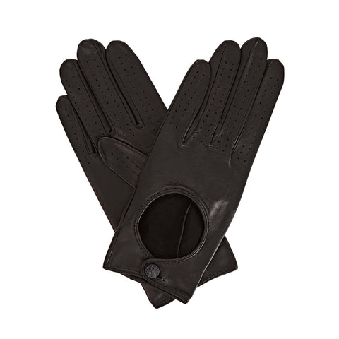 Bega  Women's Leather Driving Gloves in Black