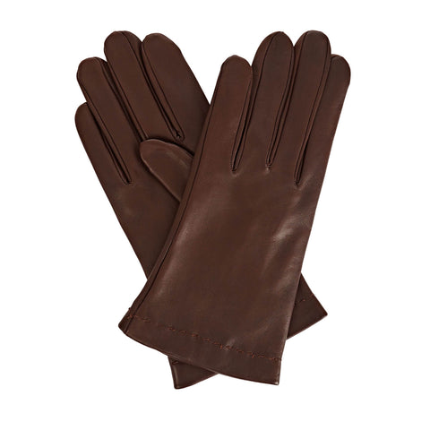 Emily Everyday Women's Leather Gloves in Dark Brown