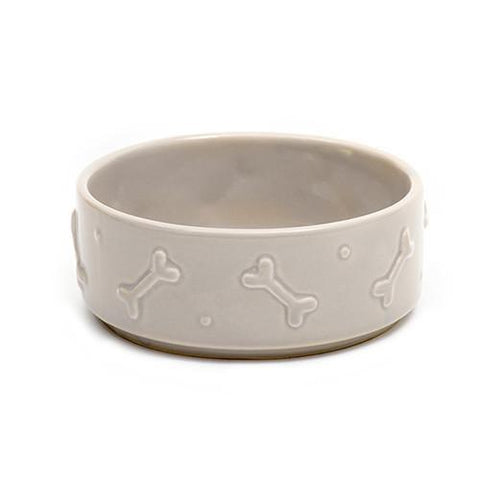 Luxury French Grey Ceramic Bowl - Large  - Mutts and Hounds