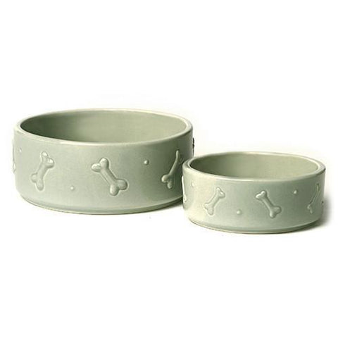 Luxury Sage Green Ceramic Bowl - Small  - Mutts and Hounds