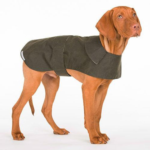 Luxury Olive Waxed Coat  - Mutts and Hounds