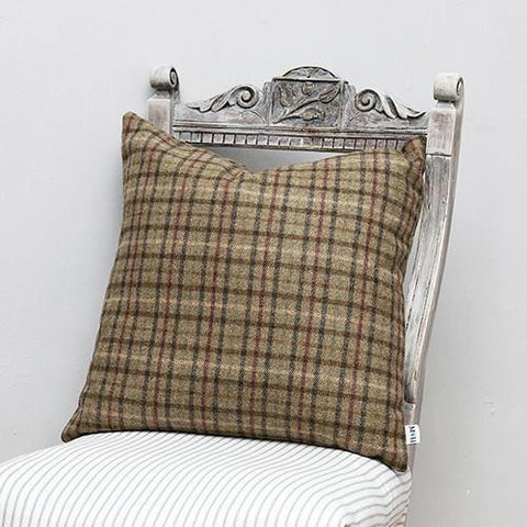 Luxury Balmoral Tweed Cushion  - Mutts and Hounds