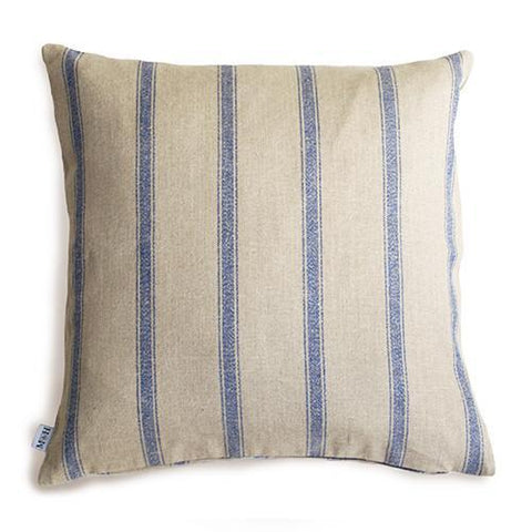 Luxury Navy Nordic Stripe Cushion  - Mutts and Hounds