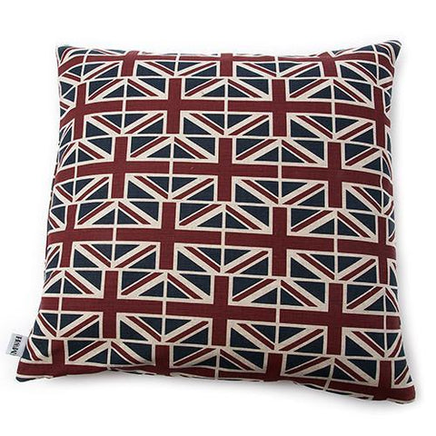 Luxury Union Jack Linen Cushion  - Mutts and Hounds
