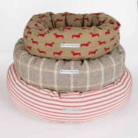 Luxury Slate Tweed Donut Bed  - Mutts and Hounds