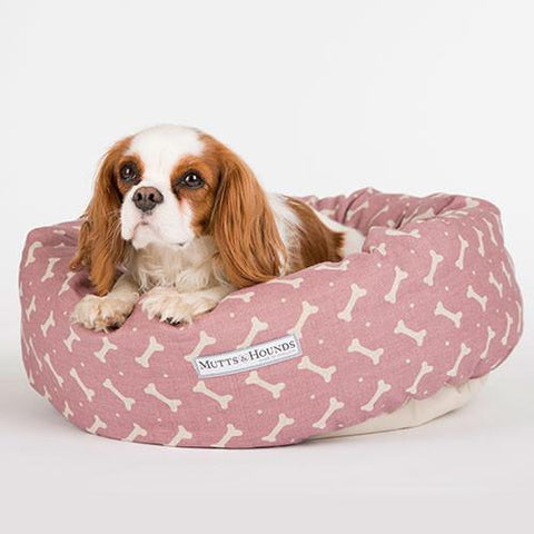 M&H Heather Bone Linen Donut Bed