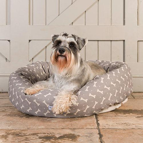 Luxury M&H Mushroom Bone Linen Pillow Bed  - Mutts and Hounds