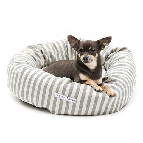 Flint Stripe Brushed Cotton Donut Bed
